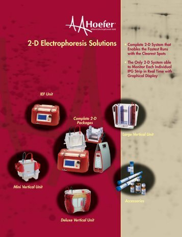download the Hoefer 2D Solution Brochure - Hoefer Inc