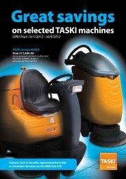 on selected TASKI machines - Hospital Caterers Association