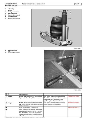 Remove/install Rear Shock Absorber – Bentley Publishers