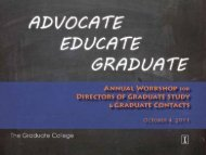 Grievance Policy for Graduate Students, Revised 2011