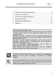 Indholdsfortegnelse - Witt Hvidevarer A/S
