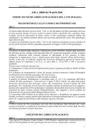 1 Al registro degli allevatori previsto all'art. 7 lett. a), del ... - Enci