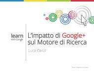 L'impatto di Google+ sul Motore di Ricerca - Corso di CRM di ...
