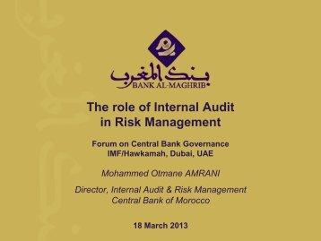internal audit & risk management - Hawkamah, the Institute for ...