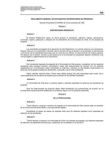 REGLAMENTO GENERAL DE ESTUDIANTES UNIVERSITARIOS ...