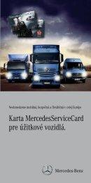 Karta MercedesServiceCard pre úžitkové vozidlá. - ServiceCards ...