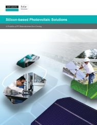 Photovoltaic Module Assembly & Integration Product ... - Dow Corning
