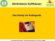 HörErlebnis Kyffhäuser Das Handy als Audioguide