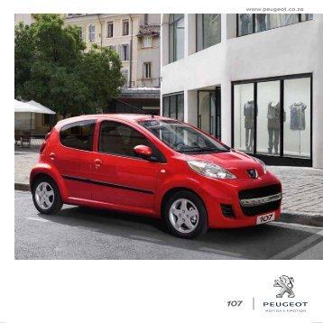 SPeCIFICaTIon SheeT - Peugeot