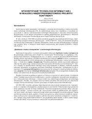 Wykorzystanie technologii informacyjnej w realizacji ... - WSiPnet