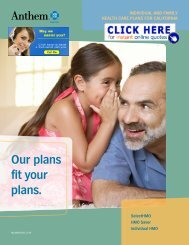 HMO Saver plan brochure - Health Insurance