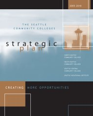 Seattle Community Colleges Strat Plan