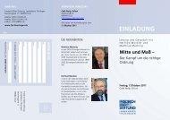 Mitte und Maß - Landesbüro Thüringen der Friedrich-Ebert-Stiftung
