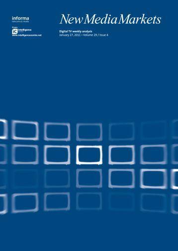 Digital TV weekly analysis January 27, 2011 • Volume 29 / Issue 4
