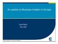 An update on Business Aviation in Europe