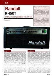 randall rh 50 t - Music Info