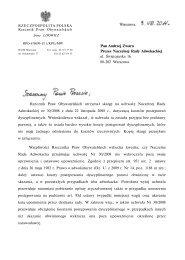 Pan Andrzej Zwara Prezes Naczelnej Rady Adwokackiej ul ...