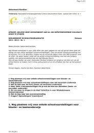 nieuwsbrief schoolprogrammatie - seizoen 2011-2012 - nr. 1