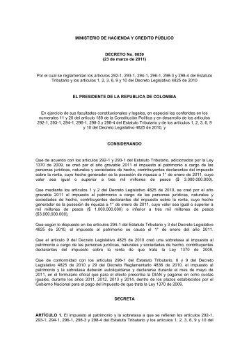 MINISTERIO DE HACIENDA Y CREDITO PÚBLICO ... - SIAP
