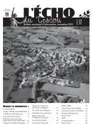 Bulletin municipal d'information, novembre 2011 ... - OPI des Tescou's