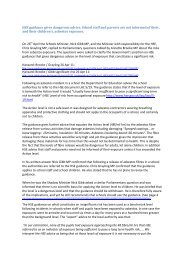 HSE guidance dangerousce 28 Apr 11 - Asbestos in Schools