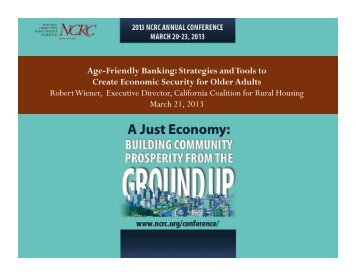 Robert Wiener, Executive Director, California Coalition for Rural ...