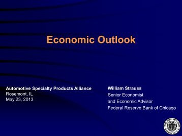 William Strauss - Automotive Specialty Products Alliance