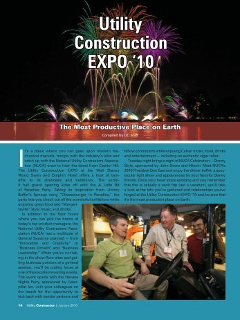 to view the nuca timeline in pdf format - Utility Contractor Magazine