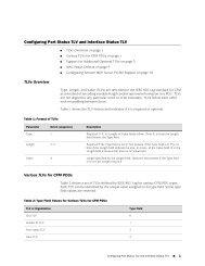 Configuring Port Status TLV and Interface Status TLV