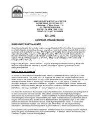 kings county hospital center - New York State Psychological ...