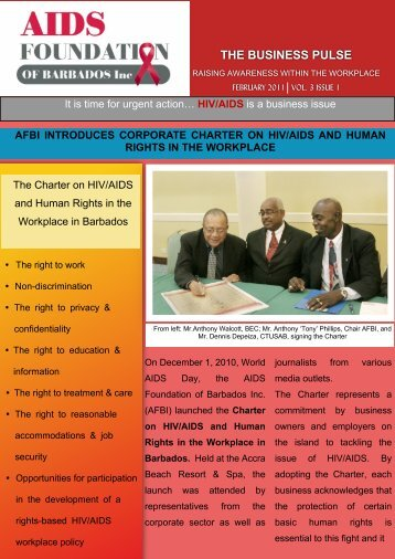 AFBI Newsletter Final - Barbados Small Business Association