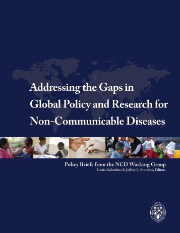 Addressing the Gaps in Global Policy and Research for Non ... - IFPMA