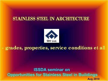 Stainless steel in Architecture - Indian Stainless Steel Development ...