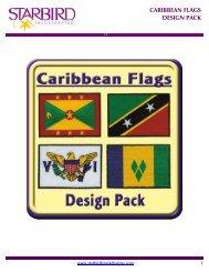 CARIBBEAN FLAGS DESIGN PACK - Starbird Stock Designs