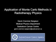 Application of Monte Carlo Methods in Radiotherapy Physics