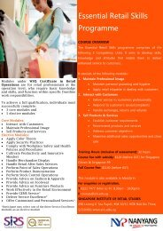 Essential Retail Skills Programme - Singapore Institute of Retail ...