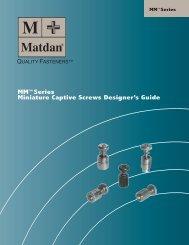 MM™Series Miniature Captive Screws Designer's Guide - Electronic ...