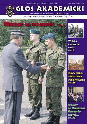 """MIESIÃ""""Â""""C NA POLIGONIE - Wojskowa Akademia Techniczna"""