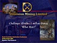 Challenger reaches a million ounces—What next? - SA Explorers