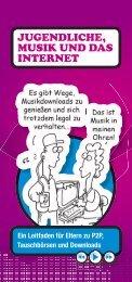 JUGENDLICHE, MUSIK UND DAS INTERNET - Kidsmart