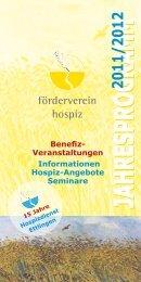 Programm 2011/2012 - Förderverein Hospiz Ettlingen eV