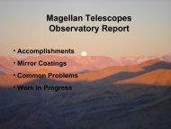 Telescope report - MagellanTech