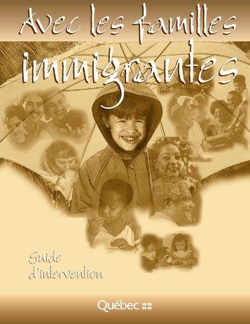 Avec les familles immigrantes - Gouvernement du Québec