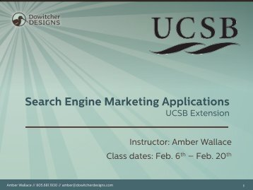 Search Engine Marketing Applications - Dowitcher Designs