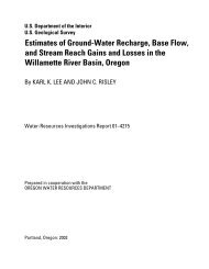 Estimates of Ground-Water Recharge, Base Flow, and Stream ...