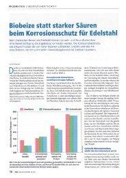 Biobeize statt starker Säuren beim ... - POLIGRAT GmbH