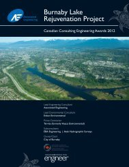 Burnaby Lake Rejuvenation Project - Canadian Consulting Engineer