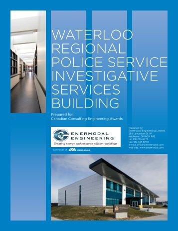waterloo regional police service investigative services building