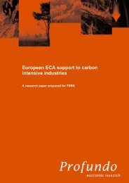 European ECA support to carbon intensive industries - Profundo