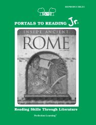 PORTALS TO READING - Perfection Learning